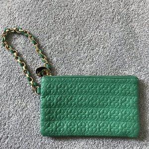 """Deux Lux 8"""" Green Wristlet"""